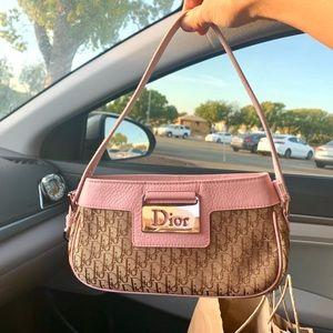 Dior Vintage Trotter Canvas Street Chic Mini Bag